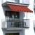 paramondo Klemmmarkise - Balkonmarkise JAM | 1,95 x 1,20 m | Gestell: anthrazit | Stoff: Multi, orange