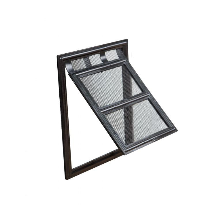 JAROLIFT Anido Katzenklappe - Hundeklappe für Fliegengittertüren   20 x 25 cm, schwarz