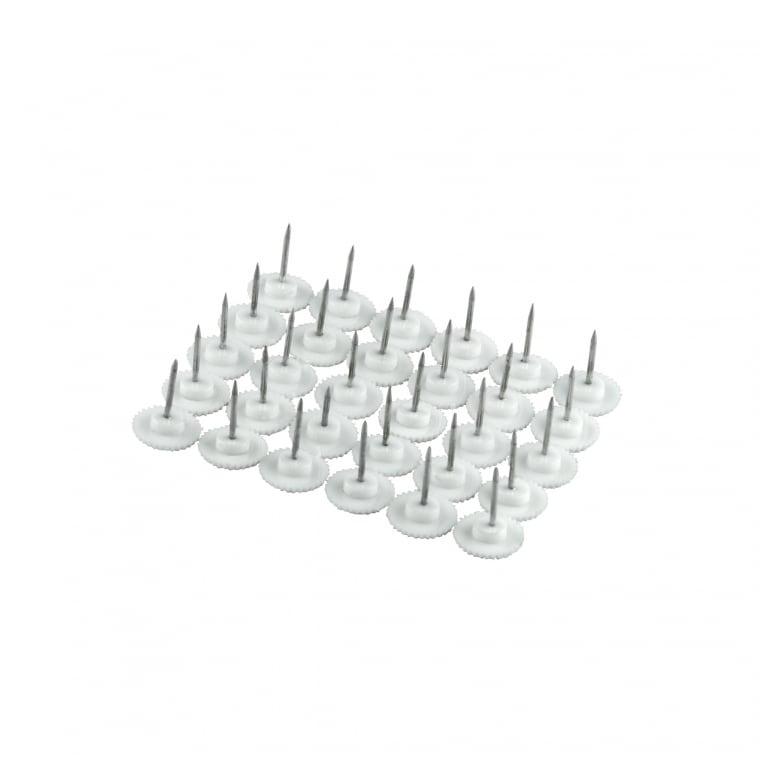 JAROLIFT Magnetvorhang-Befestigungskit für Holzrahmen | 30 Reißnägel, weiß