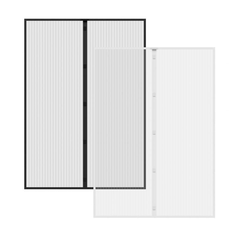 JAROLIFT Fliegengitter Magnetvorhang für Türen 140x250cm, schwarz