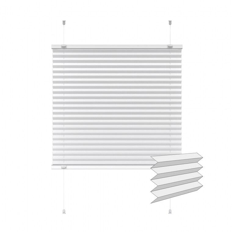 VICTORIA M Indiva Lite Plissee | 80 x 150 cm, weiß