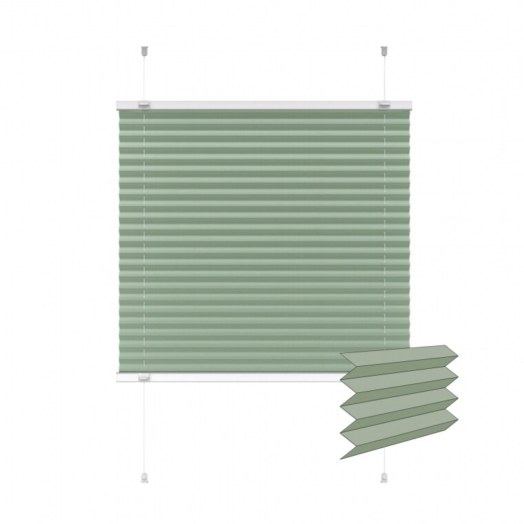 VICTORIA M Indiva Lite Plissee | 80 x 200 cm, grün