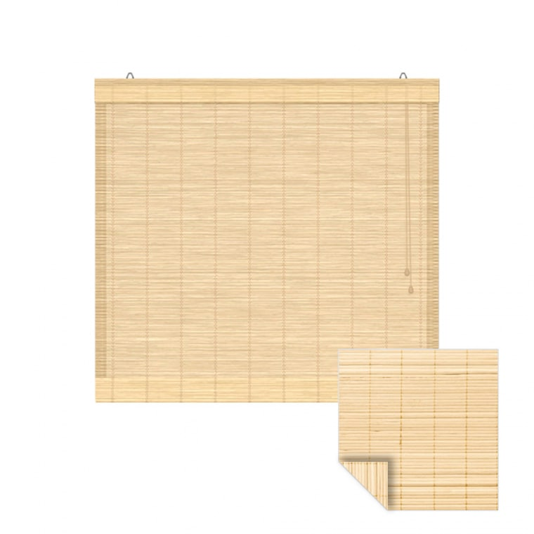 VICTORIA M Klemmfix Bambus-Raffrollo 90 x 160cm, natur