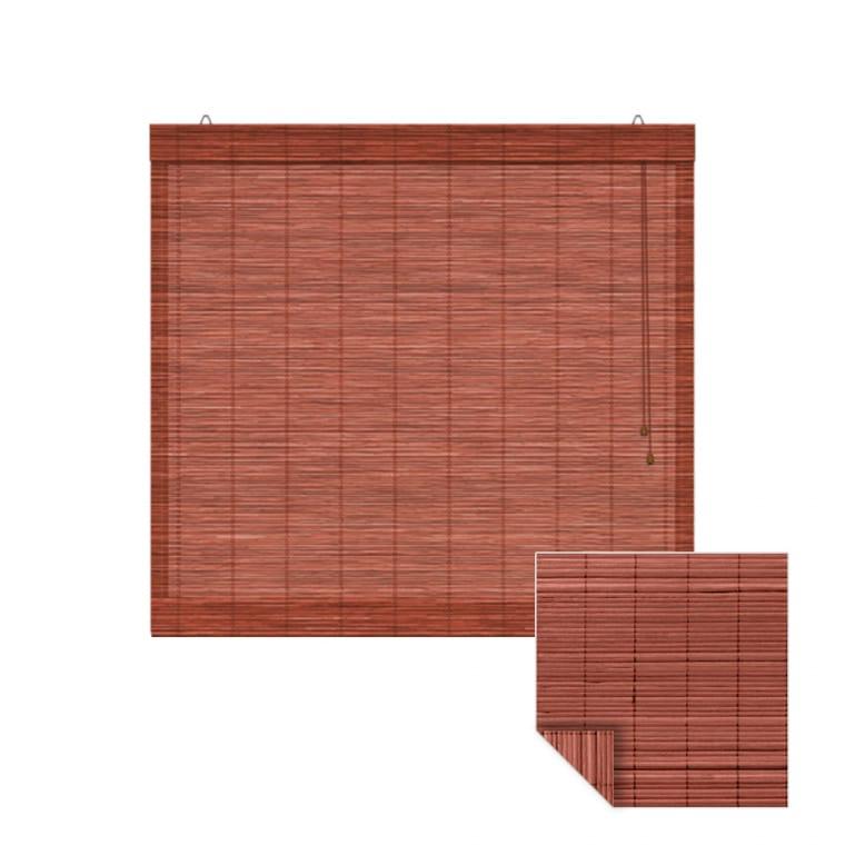 VICTORIA M Klemmfix Bambus-Raffrollo 130 x 160cm, kirsche