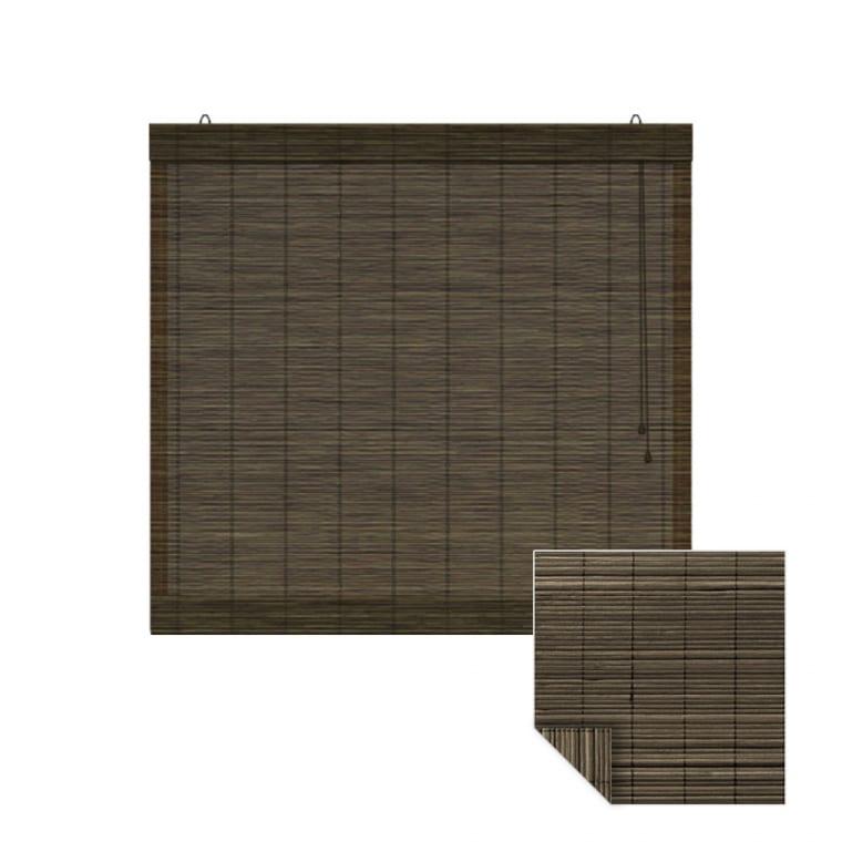 VICTORIA M Klemmfix Bambus-Raffrollo 140 x 220cm, dunkelbraun