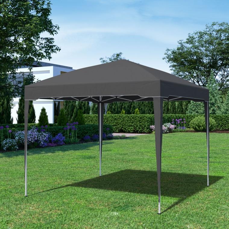 paramondo Faltpavillon Premium | 3 x 3 m, anthrazit
