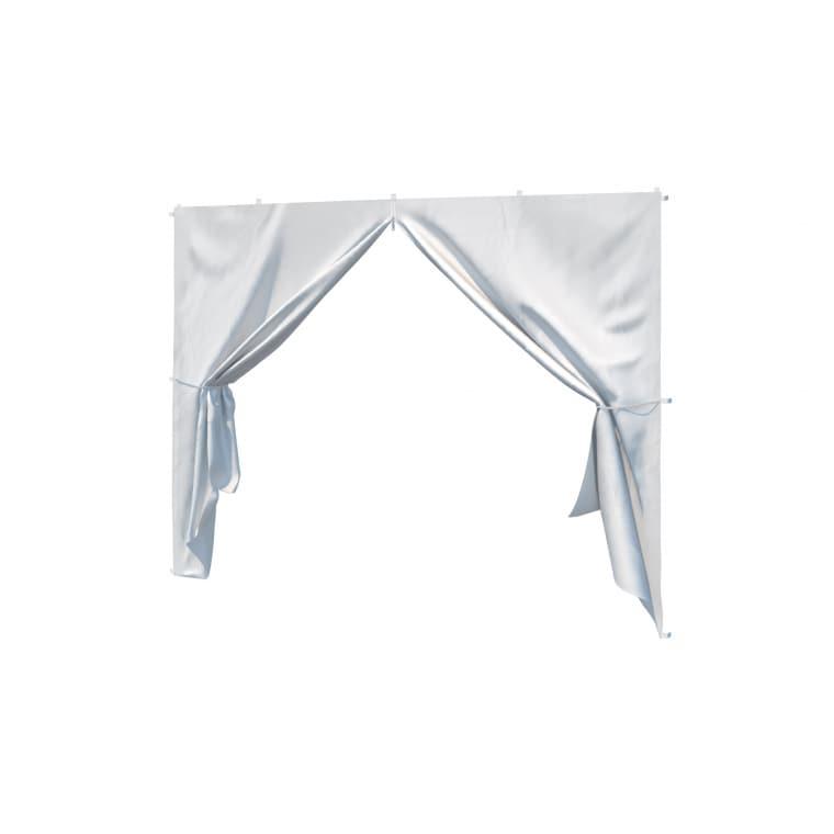 paramondo Seitenwand-Tür mit Reißverschluss für Faltpavillon Basic & Premium | weiß