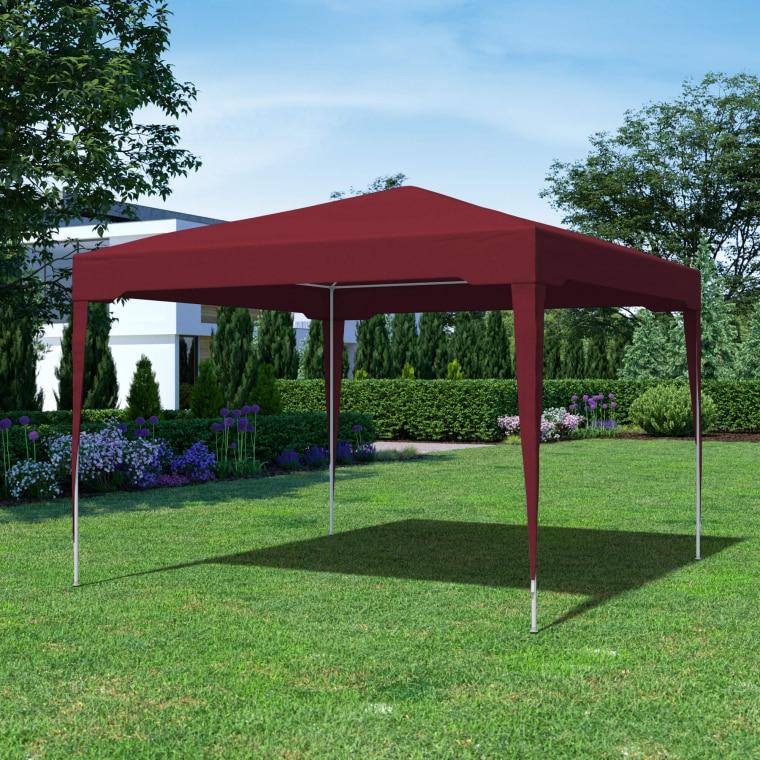 paramondo Steckpavillon | 3 x 3 m, bordeaux