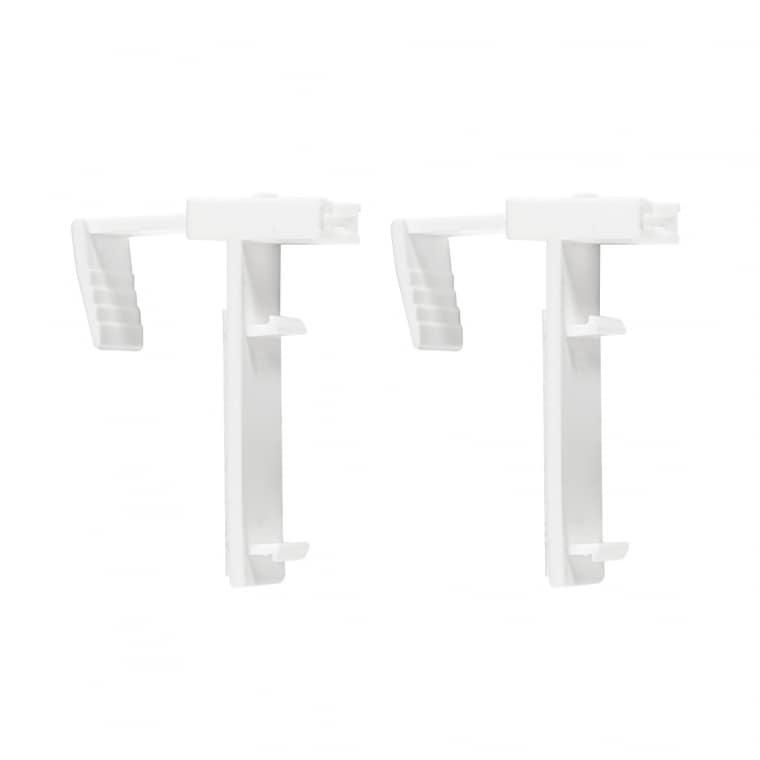 VICTORIA M Klemmhalter für Tenebra Verdunkelungsrollo & Thermorollo | 5 - 15mm Fensterflügel | 2er Set