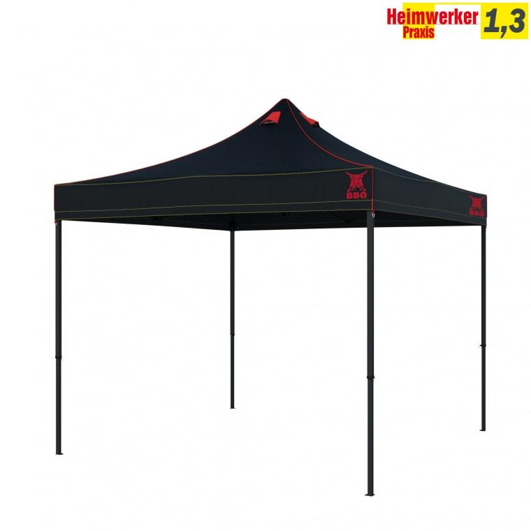 PARAMONDO Grillpavillon / Grillzelt Premium Plus | 3 x 3 m, schwarz