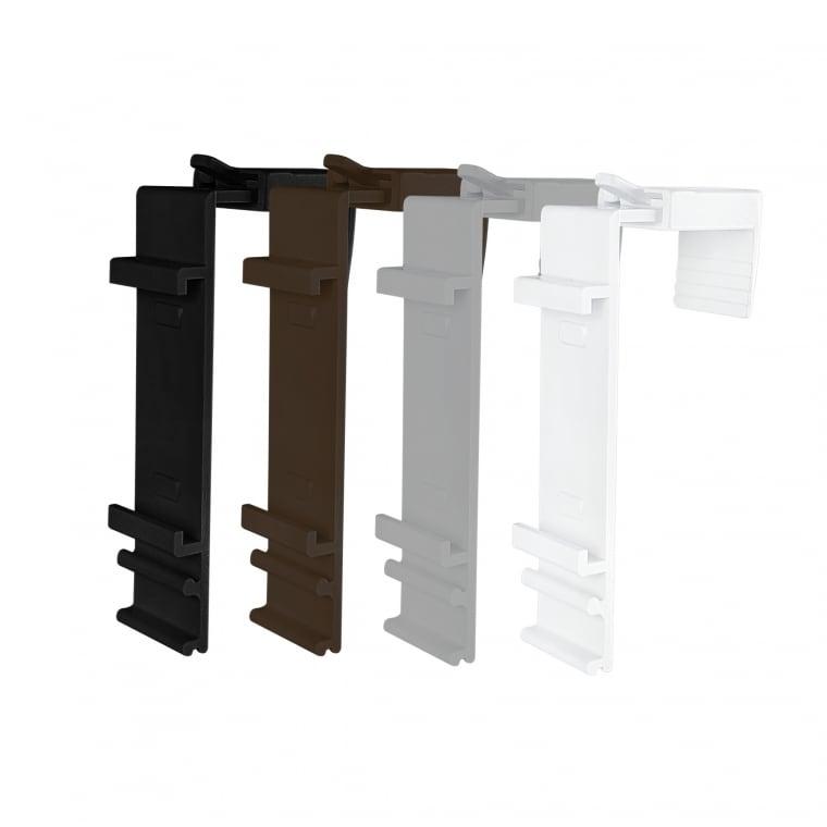 VICTORIA M Klemmhalter für Klemmfix Doppelrollo | 15 - 23mm Fensterflügel (Typ nach Wahl)