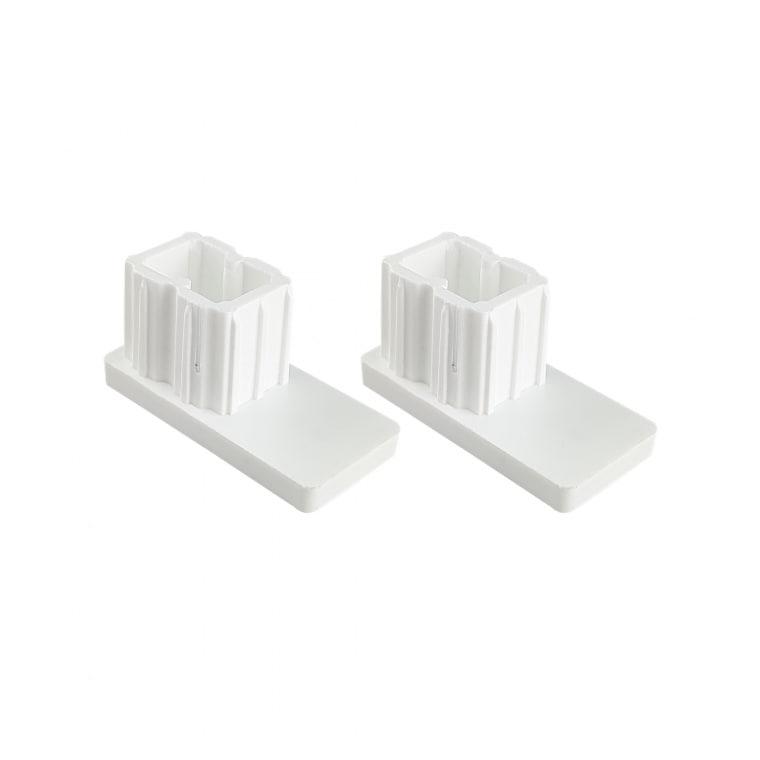 JAROLIFT Verschlusskappe für Rollladen-Führungsschienen PP 45 (45 x 22 mm) | 2er Set, weiß