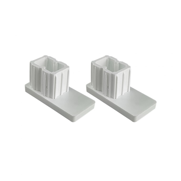 JAROLIFT Verschlusskappe für Rollladen-Führungsschienen PP 45 (45 x 22 mm)   2er Set, grau