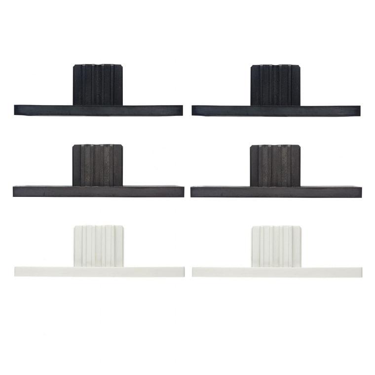 JAROLIFT Verschlusskappe für Rollladen-Führungsschienen PPD 79 (79 x 22 mm) (Typ nach Wahl)
