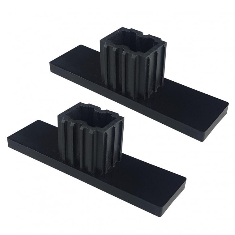 JAROLIFT Verschlusskappe für Rollladen-Führungsschienen PPD 79 (79 x 22 mm) | 2er Set, schwarz