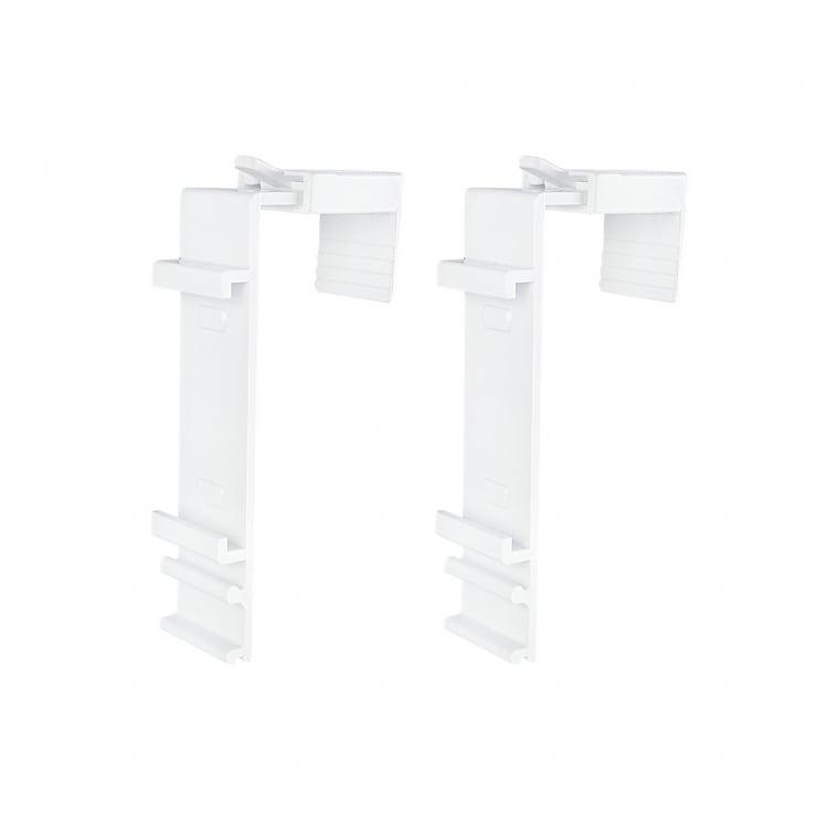 VICTORIA M Klemmhalter für Klemmfix Doppelrollo | 15 - 23mm Fensterflügel | 2er Set, weiß