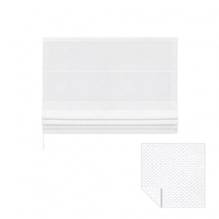 VICTORIA M Ivora Klemmfix Raffrollo | 80 x 240 cm, weiß