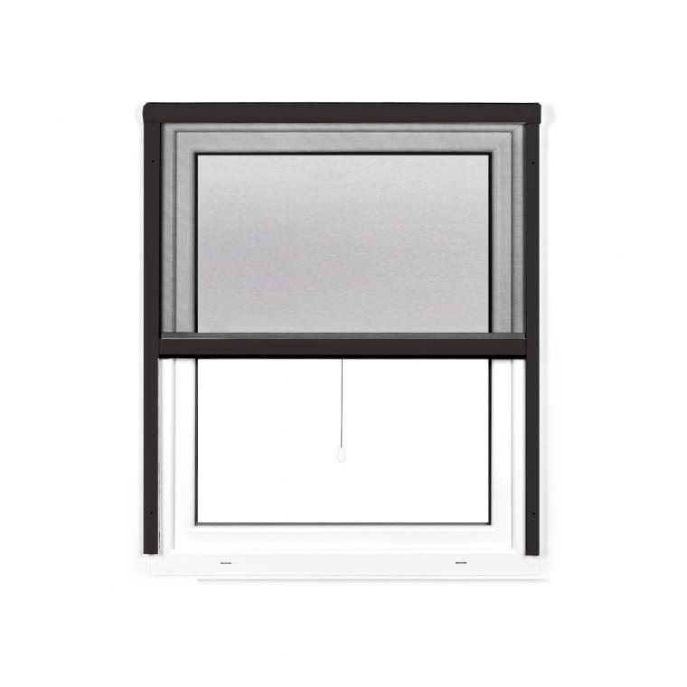 JAROLIFT 4 in 1 Insektenschutzrollo Zanzara | Rahmen: Aluminium | 130 x 160 cm, anthrazit