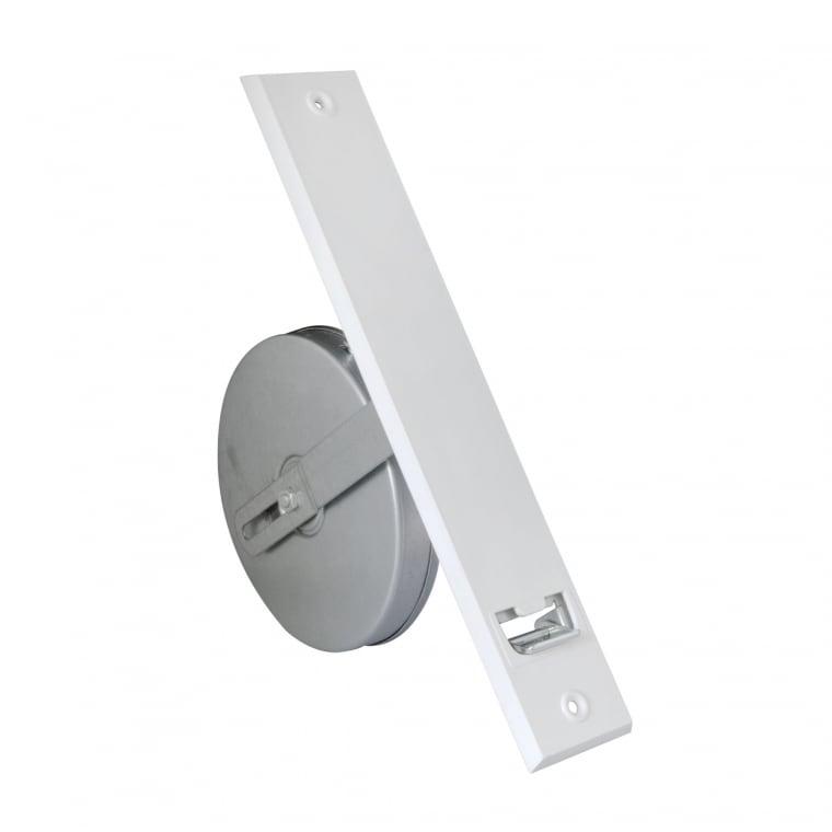 JAROLIFT Einlass-Gurtwickler inkl. Kunststoff-Abdeckplatte, weiss | LA: 186mm