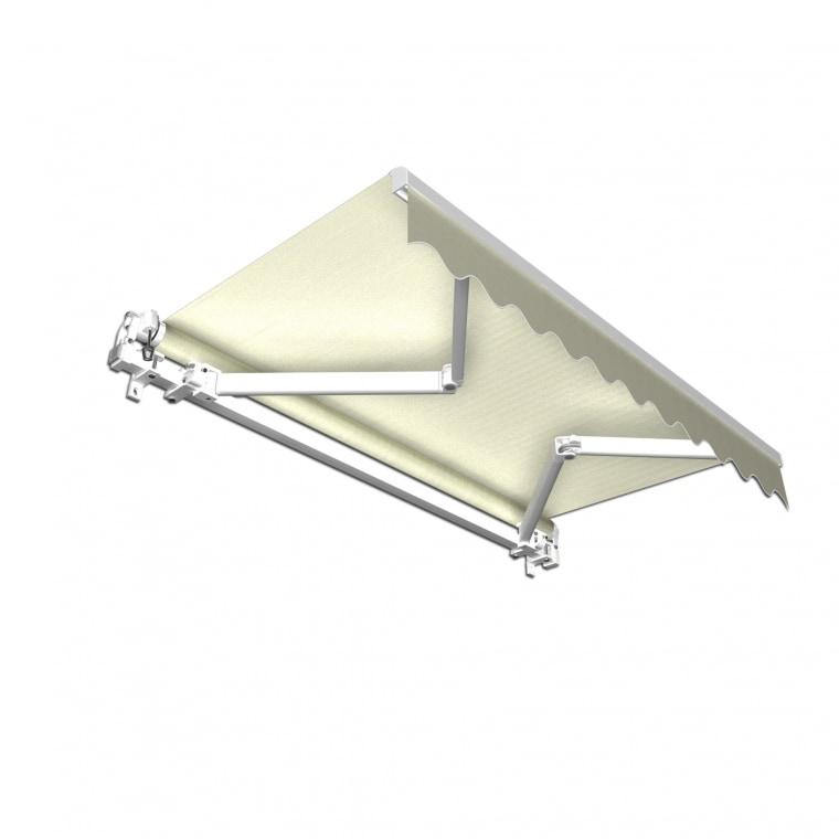 JAROLIFT Gelenkarmmarkise Basic 250 x 150cm, Stoff elfenbein Uni #29