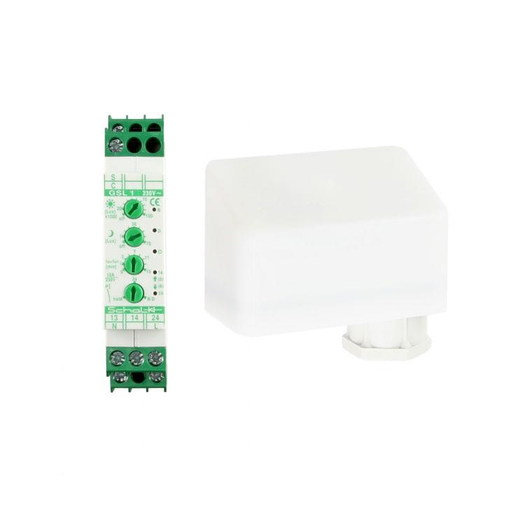 JAROLIFT Grenzwertschalter für Licht inkl. Sonnen-/ Dämmerungssensor | Hutschienen-Montage (DIN)