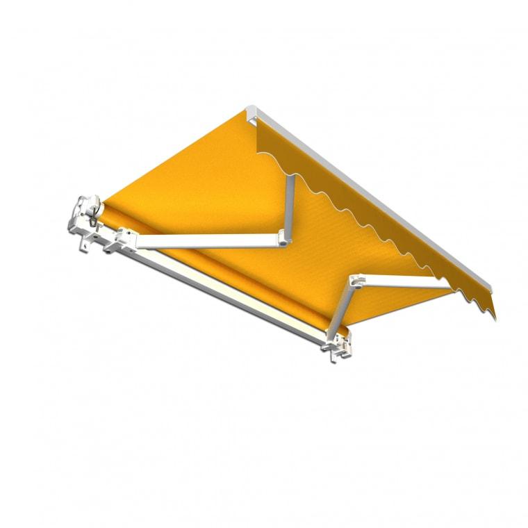 JAROLIFT Gelenkarmmarkise Basic 300 x 250cm, Stoff gelb Uni #35