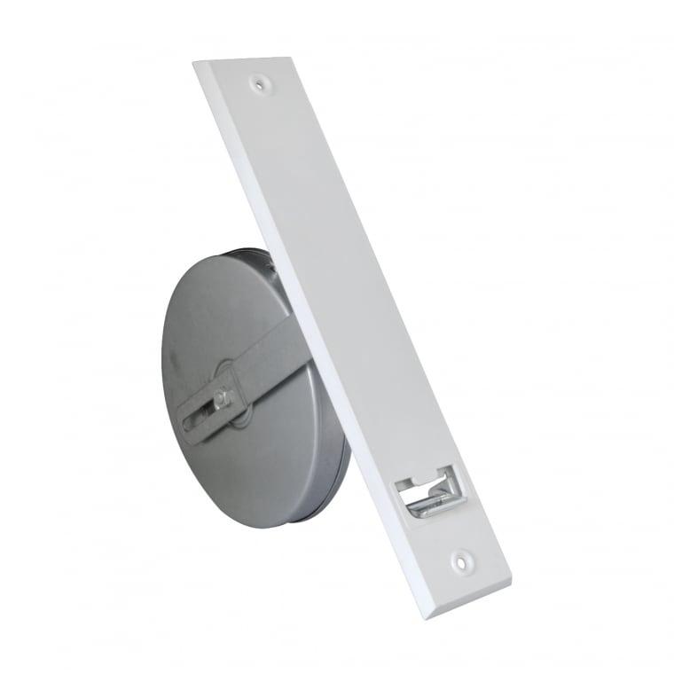 JAROLIFT Getriebe-Gurtwickler inkl. Kunststoff-Abdeckplatte, weiss | LA: 214mm