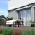 JAROLIFT Gelenkarmmarkise Basic 400 x 300cm, Stoff grau/weiss Multistreifen #09