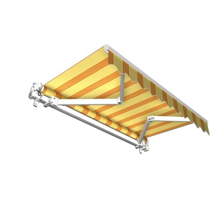 JAROLIFT Gelenkarmmarkise Basic 400 x 300cm, Stoff gelb/orange Multistreifen #13