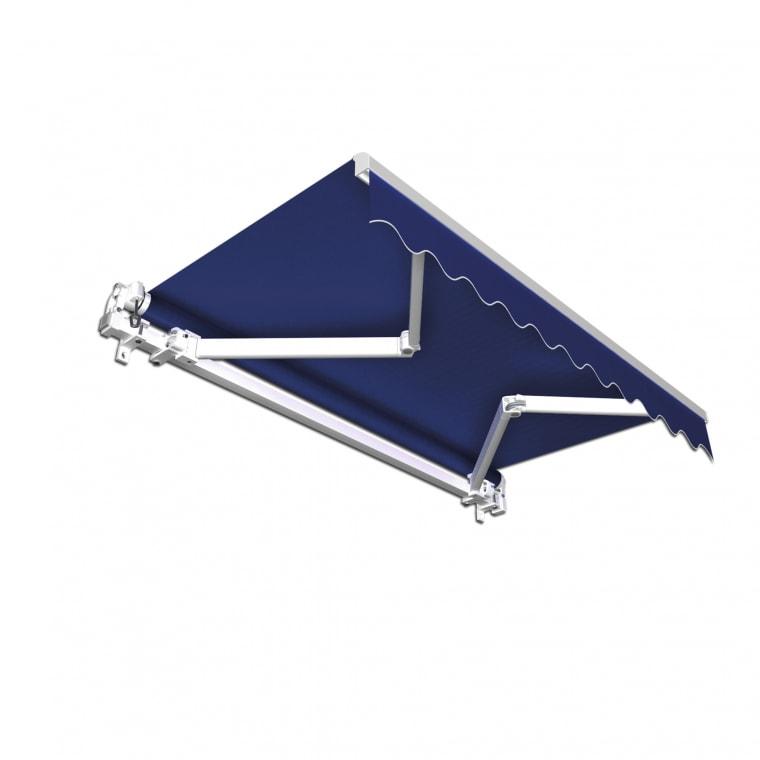 JAROLIFT Gelenkarmmarkise Basic 250 x 150cm, Stoff blau Uni