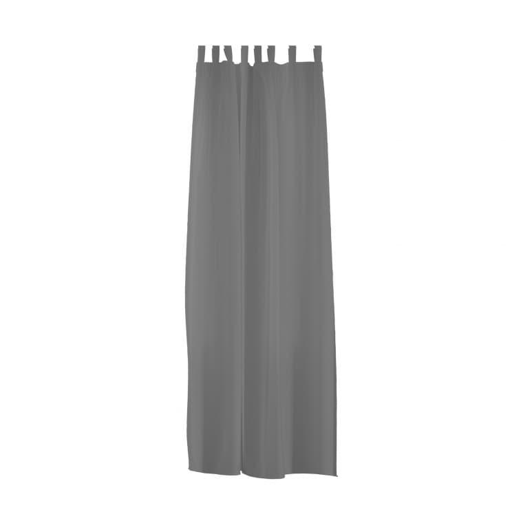 Home Wohnideen Schlaufenschal | transparent, Voile, 140 x 245 cm, grau