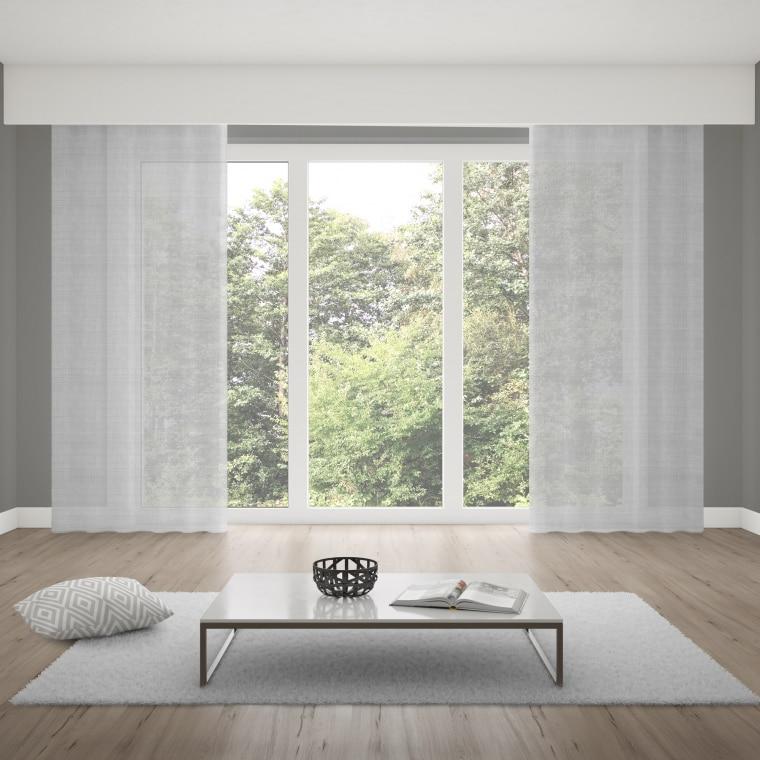 Verdi Collection Premium Gardinenschal | transparent, Leinen-Optik (Typ nach Wahl)
