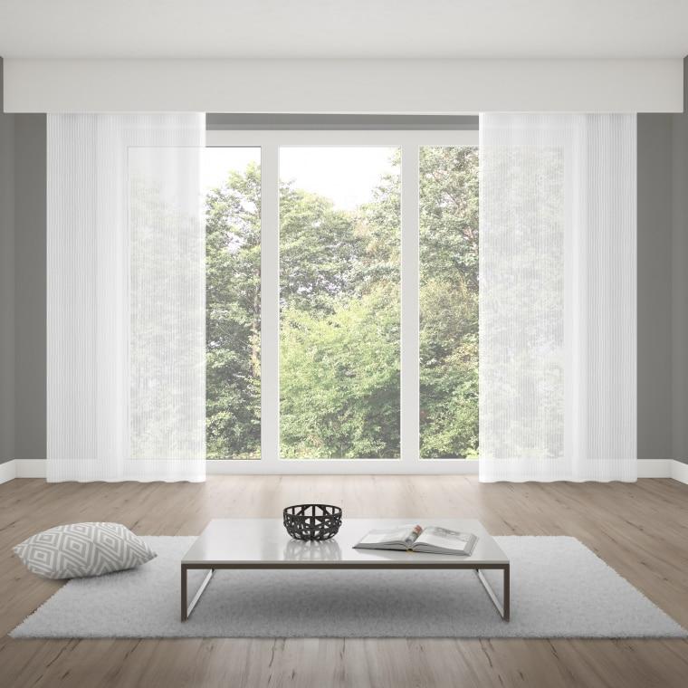 Verdi Collection Premium Gardinenschal | lichtdurchlässig, Vertikal-Linien (Typ nach Wahl)