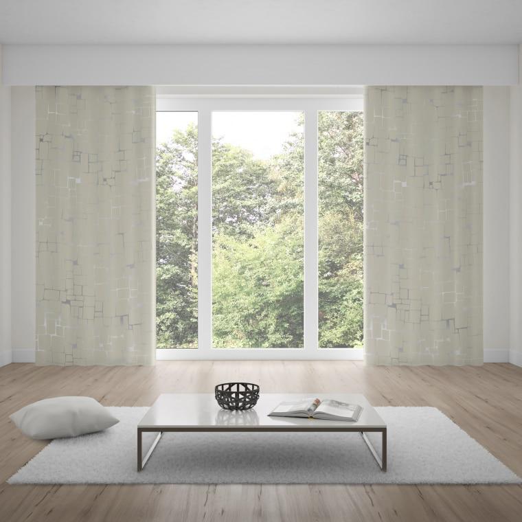 WILLKOMMEN ZUHAUSE Premium Ösenvorhang | verdunkelnd, Mauer-Motiv  (Typ nach Wahl)