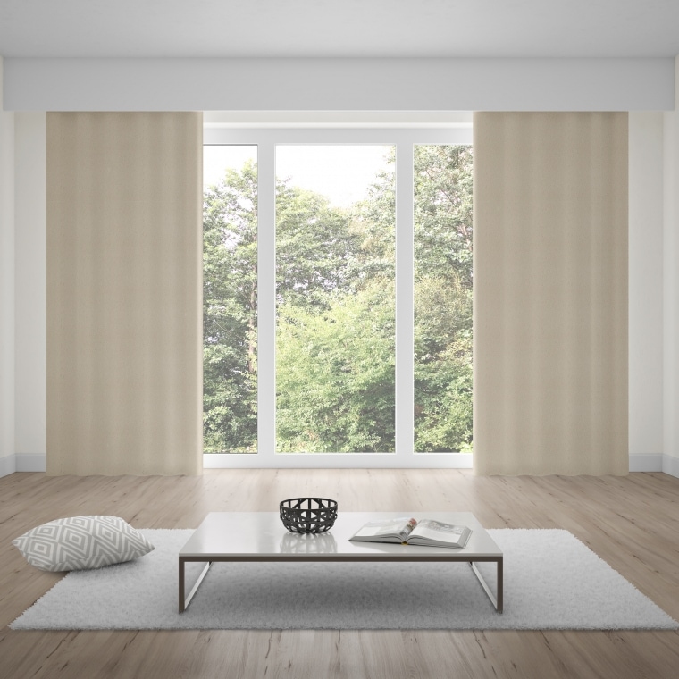 moments Ösenvorhang | verdunkelnd, glatter Stoff, 140 x 245 cm, taupe