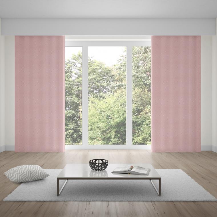 moments Ösenvorhang | verdunkelnd, glatter Stoff, 140 x 245 cm, altrosa