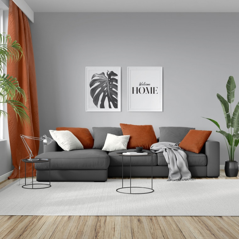 moments Kissenbezug | Nickistoff, 40 x 40 cm, orange