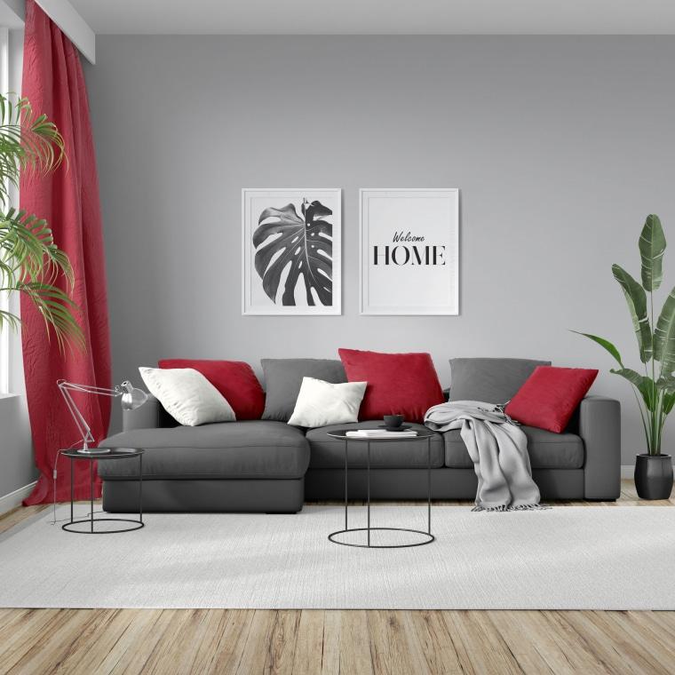 moments Kissenbezug | Nickistoff, 40 x 40 cm, rot