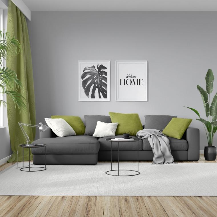 moments Kissenbezug   Nickistoff, 50 x 50 cm, grün