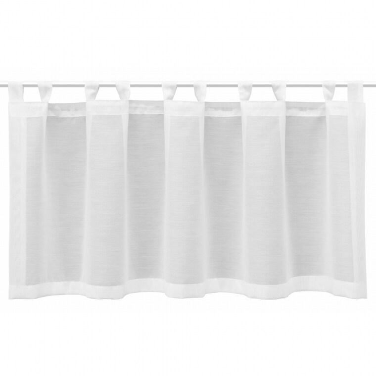 Curtain Flair Scheibengardine | transparent, Basic, 45 x 140 cm, weiß