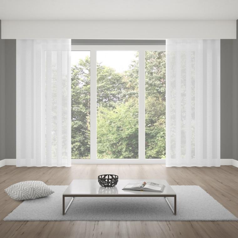 Verdi Collection Premium Schlaufenschal | lichtdurchlässig, Crush-Optik, 145 x 245 cm, wollweiß