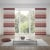 WILLKOMMEN ZUHAUSE Ösenvorhang | lichtdurchlässig, Horizontal-Streifen, 140 x 245 cm, rosa-weiß
