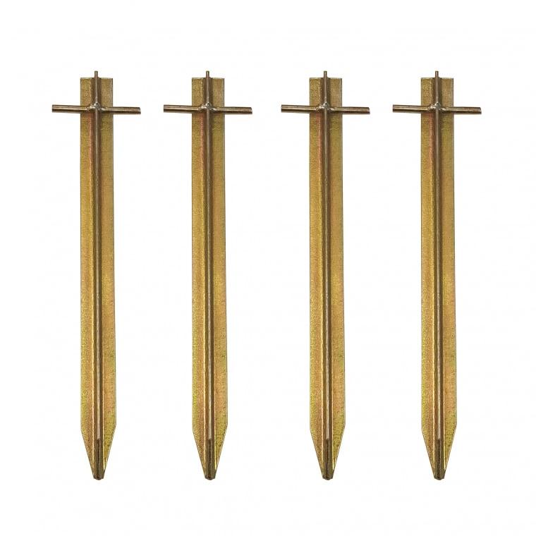 paramondo Zeltheringe mit Rostschutz-Legierung | 4 Stück à 30 cm, goldfarben