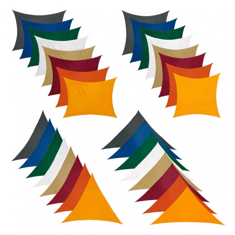 JAROLIFT Sonnensegel - atmungsaktiv / wasserabweisend (Typ, Größe & Farbe nach Wahl)