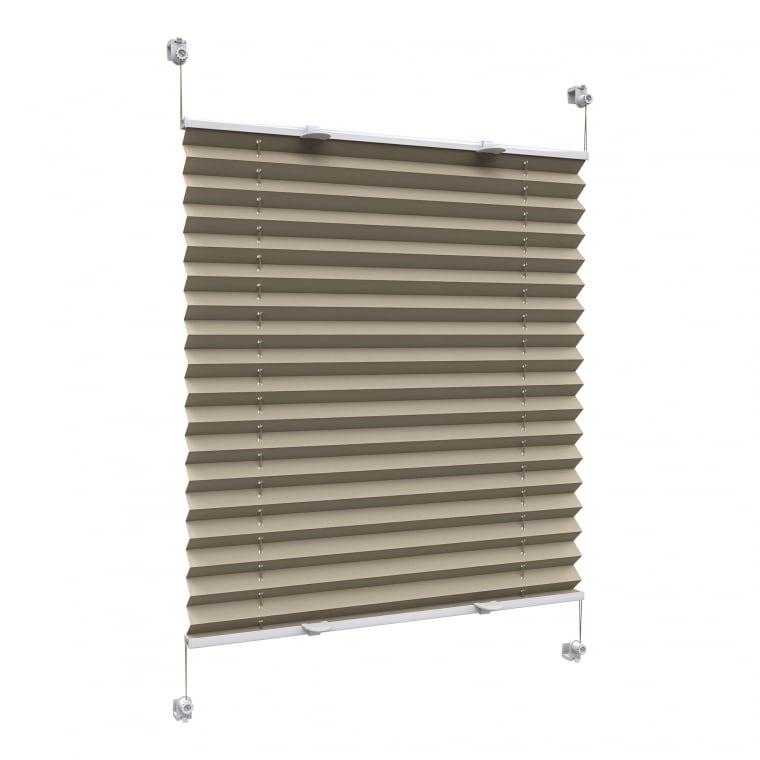 VICTORIA M Praktica Plissee | Polyester, 95 x 150 cm, beige