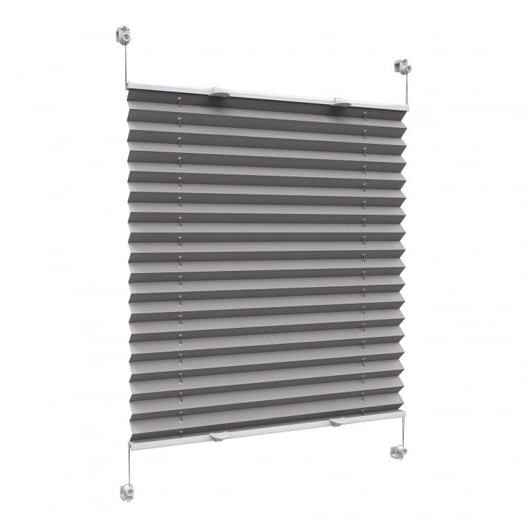 VICTORIA M Praktica Plissee   Polyester, 95 x 150 cm, grau