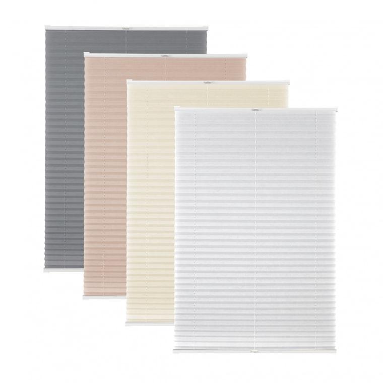 VICTORIA M Elegance Plissee | Polyester-Stoff in Standardgrößen (Typ nach Wahl)