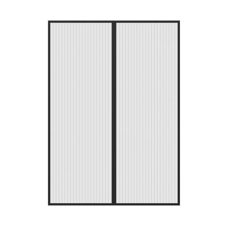 JAROLIFT Easy Fliegengitter-Magnetvorhang für Türen   120 x 220 cm, schwarz