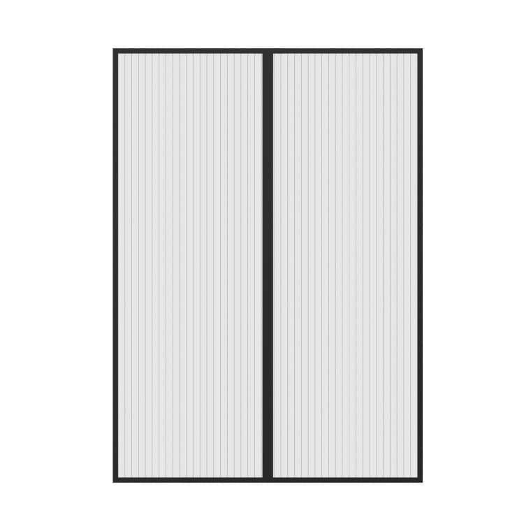 JAROLIFT Easy Fliegengitter-Magnetvorhang für Türen | 120 x 240 cm, schwarz