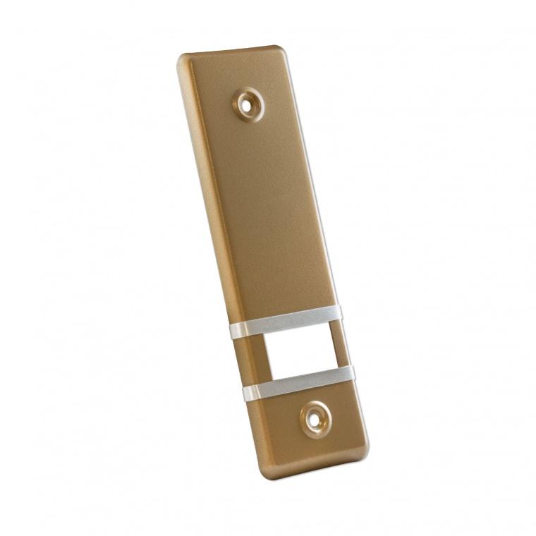JAROLIFT Design Aluminium-Abdeckplatte für Gurtwickler / LA: 135mm / gold